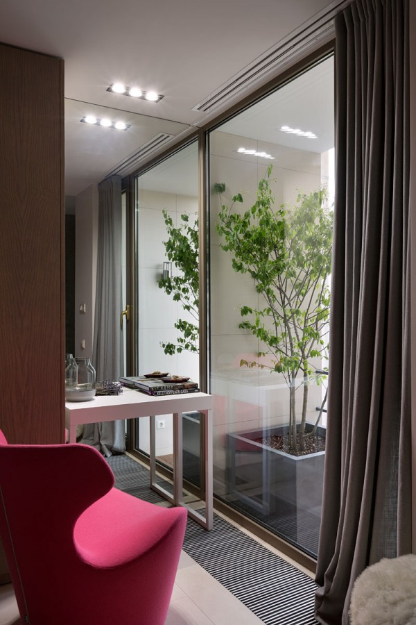 Concrete Finish Studio Apartment with creative lighting