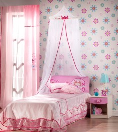 Girls Room Design with a small single bed