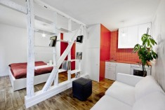 Small Studio Apartment with Room Divider