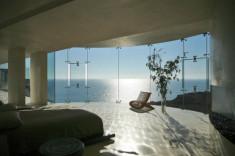 Tony Stark house bedroom with sea views