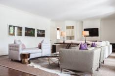 Vibrant interior design of living room