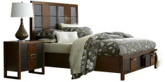 Contemporary panelled bed