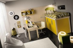 White And Yellow Kids'Room