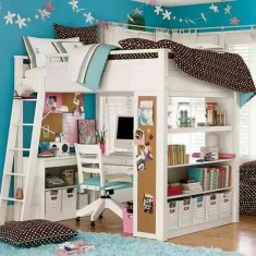 Small teen girl's bedroom