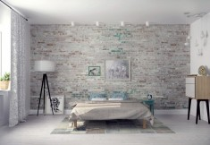White washed bedroom Wall texture Ideas
