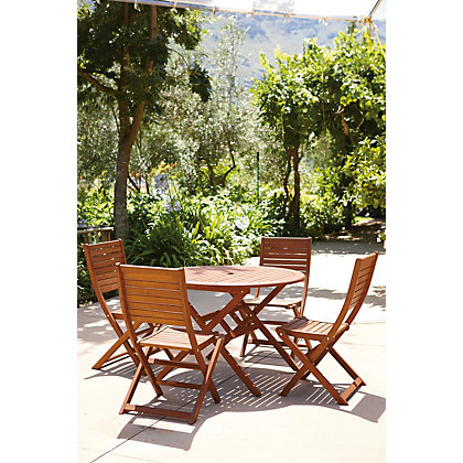 Peru 4 Seater Garden Furniture Set – Folding Chairs
