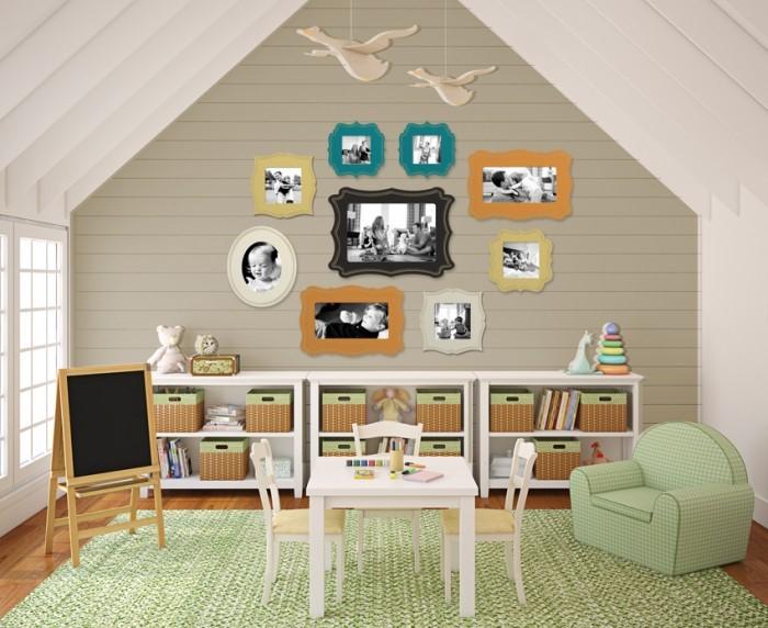 Simple But Stylish Kids Study Room