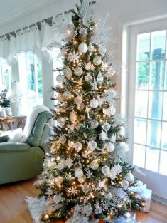 White And Silver Christmas Tree Home Design Ideas, Pictures, Remodel and Decor
