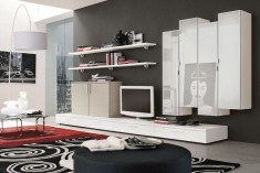 Living room wall units with storage inspiration