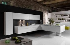 Large contemporary l shaped kitchen design