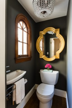 Small powder room with small sink