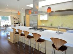 Brilliant modern yellow tile backsplash