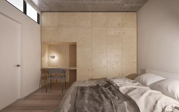 Minimalist Apartment bedroom Design