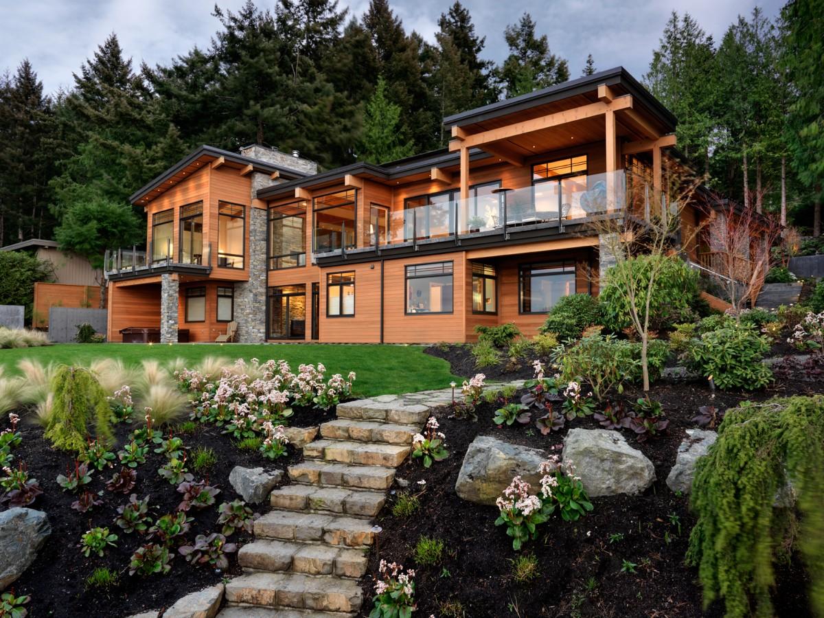 Exterior views of peninsula residence home ideas home for Exterior design vancouver wa