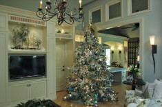 Bluewhite and silver christmas tree