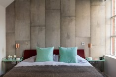 Concrete walls bedroom wall textures ideas