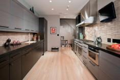 Straight line kitchen home design ideas