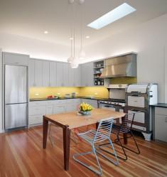 Simple grey kitchen home design