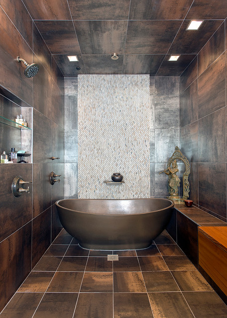 Downtown Penthouse Contemporary Bathroom