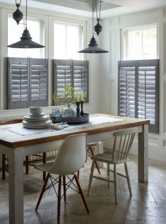 Cafe style dining room shutters – Country – Dining Room – Sussex – by Sh ...