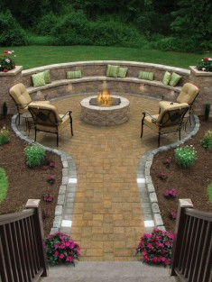 Fire Pit Traditional Patio by Conklin Limestone