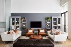 Nelson House Contemporary Living Room