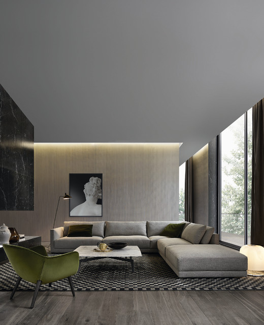 poliform contemporary living room