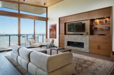 Rustic Meets Modern Contemporary Living Room