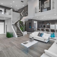 Vicky's Homes – Vittorio contemporary living room edmonton