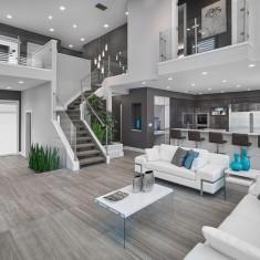 Vicky's Homes – Vittorio contemporary living room edmonton