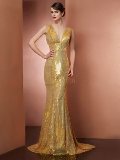 Gold Formal Dresses Australia, Sexy Gold Gowns Online – Bonnyin.com.au