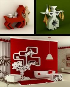 Beautiful Shelf Designs by Maria Yasko
