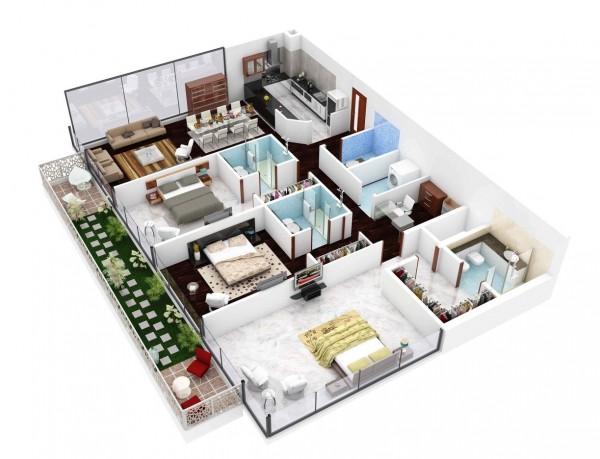 3 bedroom house plan design