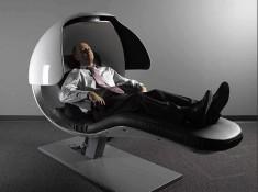 Bizarre energy pod that keeps Googlers refreshed