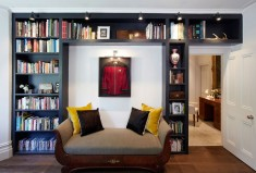 Houzz built in bookcase