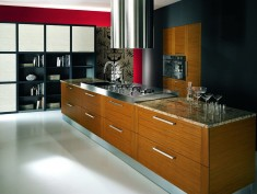 Teak wood kitchen cabinets
