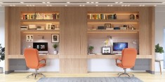 Two desks in one home office