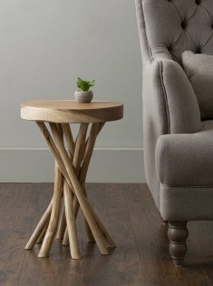 Unique wood end tables