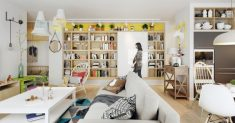 Super Colorful Scandinavian Home