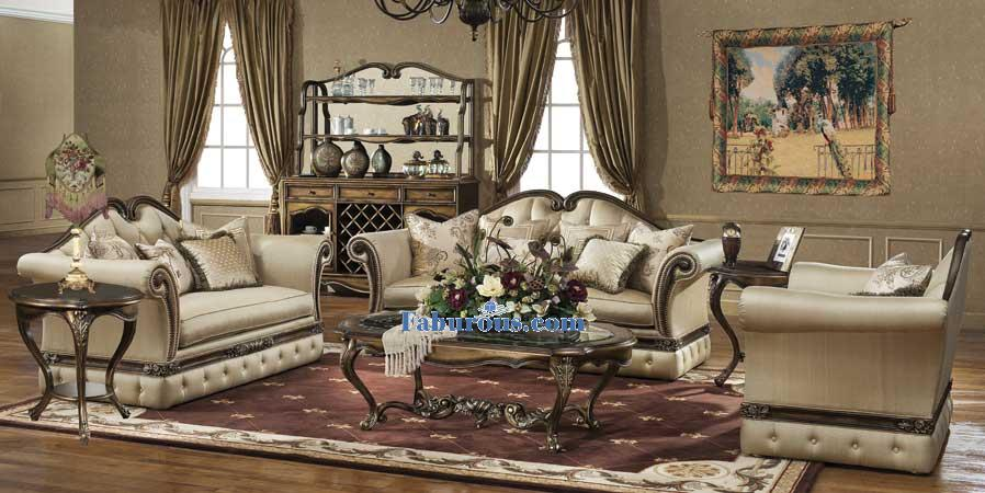 Mahogany maple cherry victorian living room design