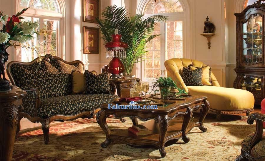 Royal Crest chaise and settee victorain living room
