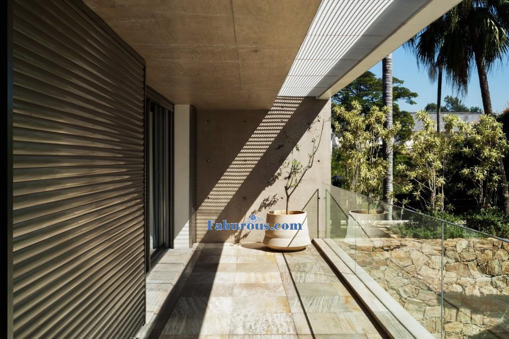 Balcon of modern house design