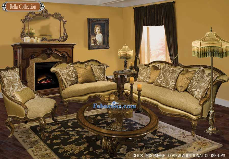 cream brown chinelle suite victorian living room