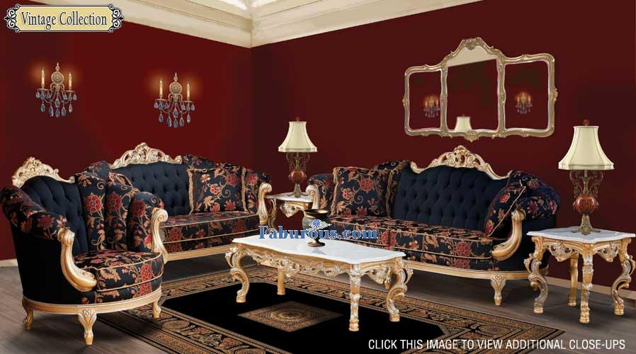 Dark Red French Baroque Victorian Style Living room & How to create a victorian Living Room Design
