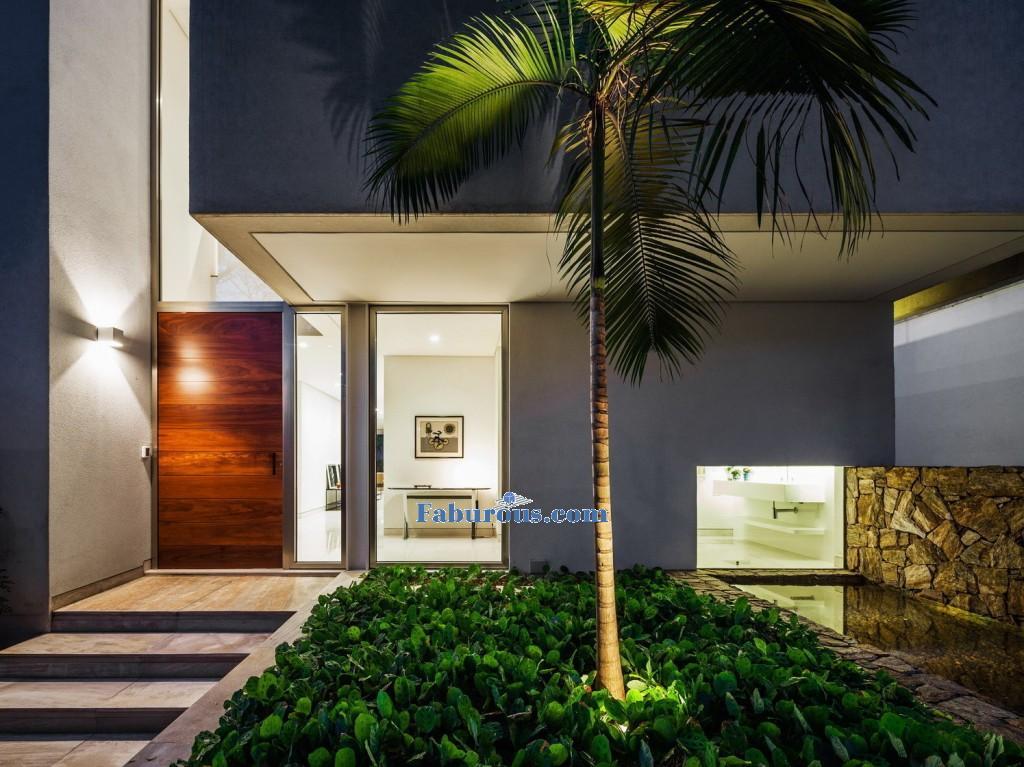 glass doors in modern house