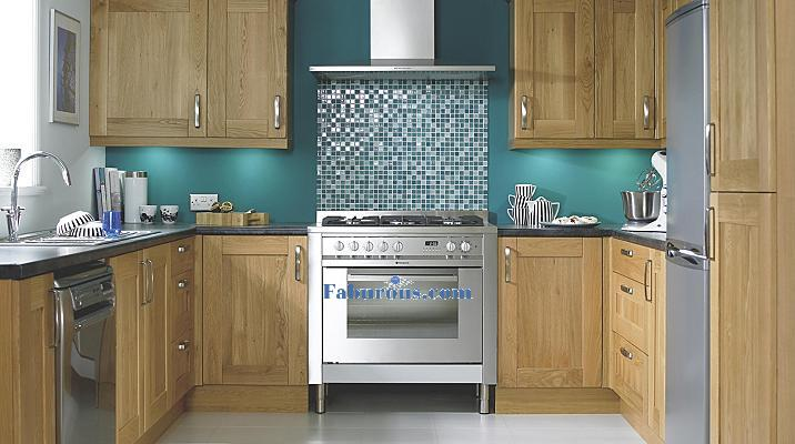 brown Aok cabinets kitchen style