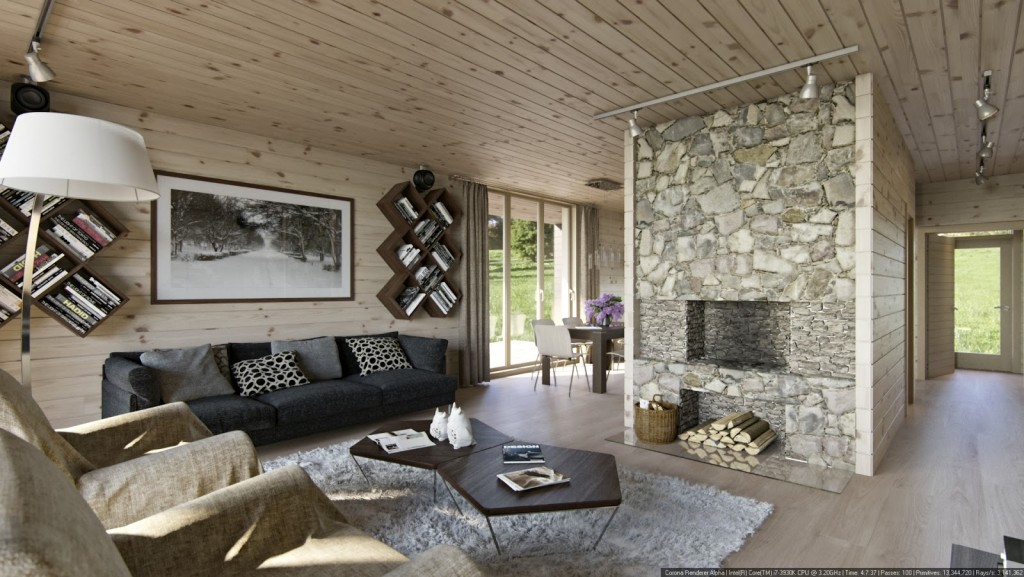 stone-fire-place-and-sofa-bed