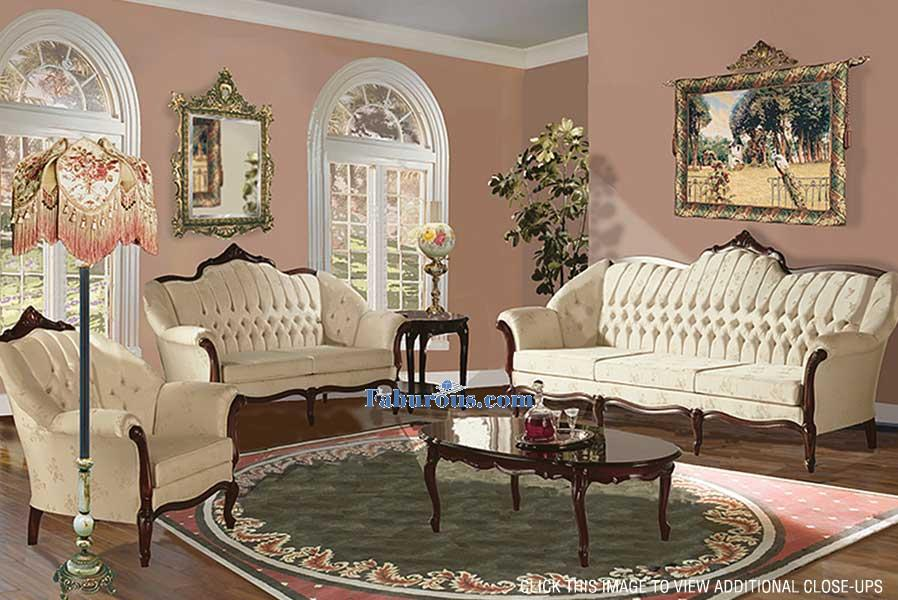 dark red french baroque victorian style living room