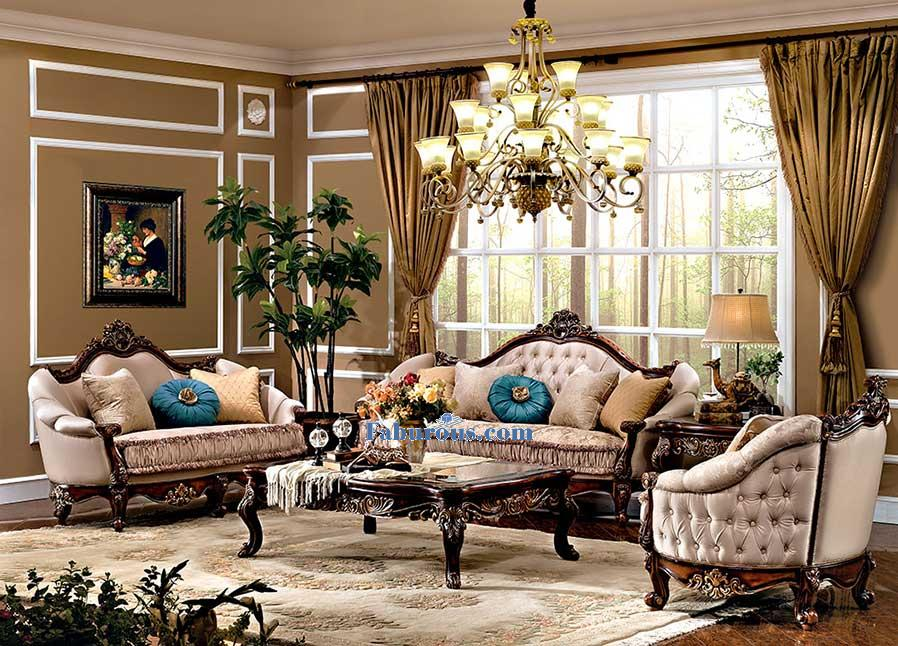 romantic victorian living room