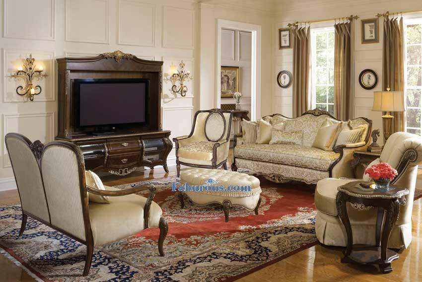 wood rim sofa champaign victorain living room